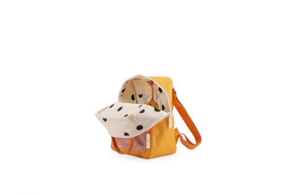 1801659 – Sticky Lemon – wanderer – backpack small -sunny yellow + carrot orange + candy pink –