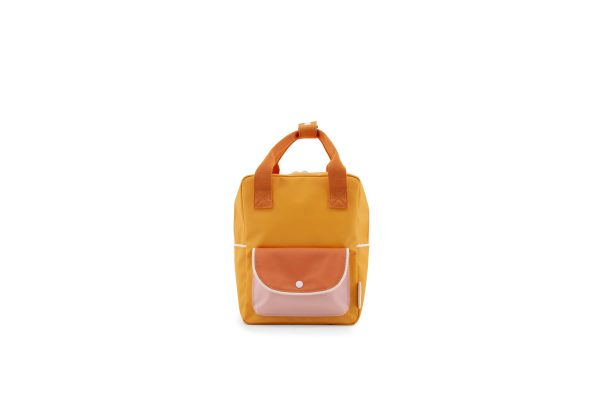 1801659 – Sticky Lemon – wanderer – backpack small -sunny yellow + carrot orange + candy pink
