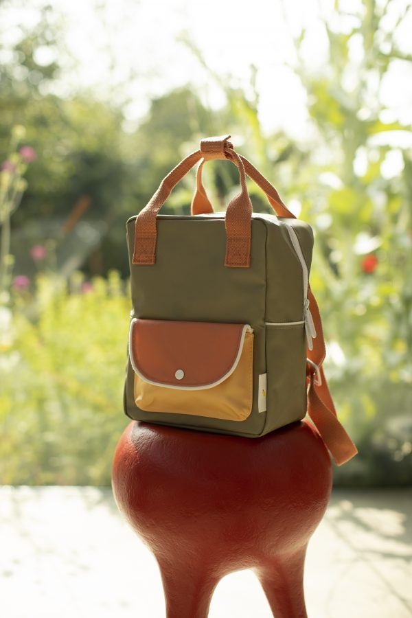 1801661 – Sticky Lemon – backpack small – wanderer – seventies green + faded orange + retro yellfdgad