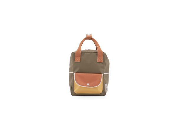 1801661 – Sticky Lemon – wanderer – backpack small – seventies green + faded orange + retro yelladgs