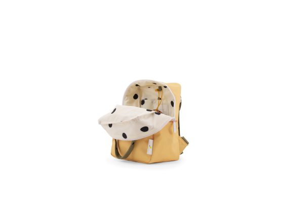 1801642 – Sticky Lemon – freckles – backpack small – retro yellow + seventies green + faded oran